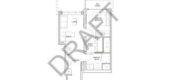 irwell-hill-residences-floor-plan-1-bedroom-study-Type-A2S