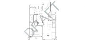 irwell-hill-residences-floor-plan-1-bedroom-study-Type-A4S