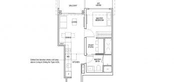 irwell-hill-residences-floor-plan-1-bedroom-study-Type-A2S(b)
