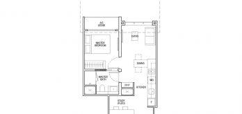 irwell-hill-residences-floor-plan-1-bedroom-study-Type-A3S