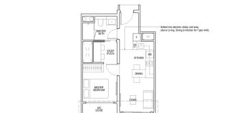 irwell-hill-residences-floor-plan-1-bedroom-study-Type-A4S(b)